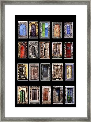Doors Of The World Framed Print by Rianna Stackhouse