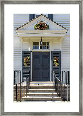 Doors Of Williamsburg 101 Framed Print