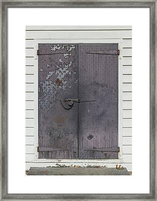 Doors Of Williamsburg 102 Framed Print by Teresa Mucha