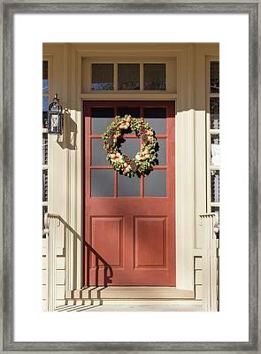 Doors Of Williamsburg 105 Framed Print by Teresa Mucha