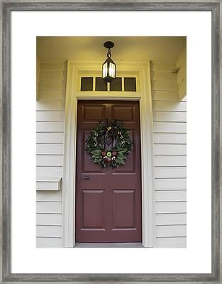 Doors Of Williamsburg 42 Framed Print by Teresa Mucha