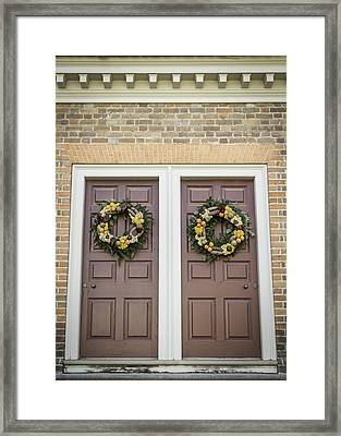 Doors Of Williamsburg 59 Framed Print