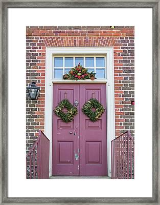 Doors Of Williamsburg 69 Framed Print by Teresa Mucha