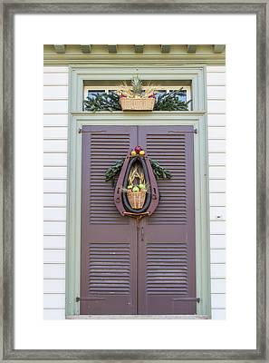 Doors Of Williamsburg 91 Framed Print