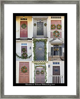 Doors Of Williamsburg Collage 6 Framed Print by Teresa Mucha