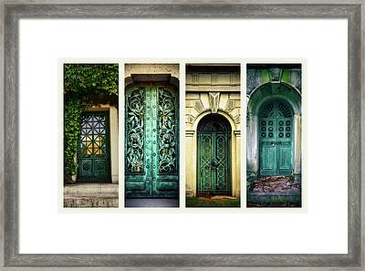 Doors Of Woodlawn Framed Print by Jessica Jenney