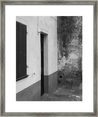 Doorway - Sao Miguel - Azores Framed Print by Henry Krauzyk