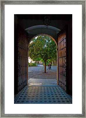 Doorway And Arch Between Gardens Framed Print by Panoramic Images