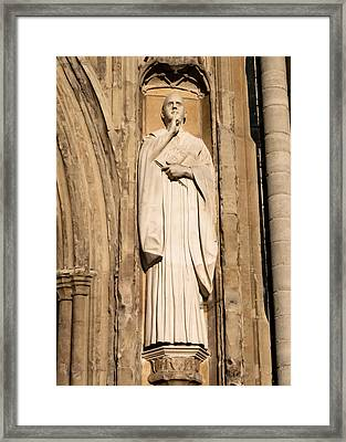 Doorway At Norwich Cathedral Framed Print