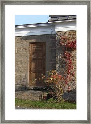 Framed Print featuring the photograph Doorway At The Stone House - Photograph by Jackie Mueller-Jones
