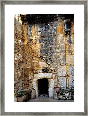 Doorway Church Of The Nativity Framed Print by Thomas R Fletcher