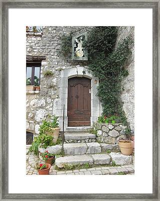 Doorway In St Paul De Vence France Framed Print by Marilyn Dunlap