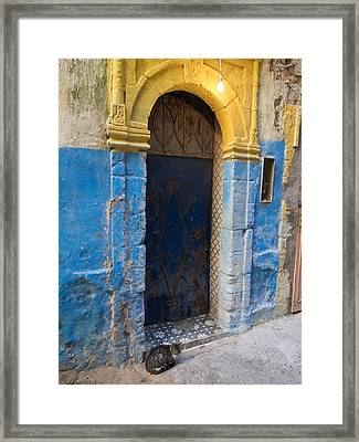 Doorway In The Mellah The Former Jewish Framed Print by Panoramic Images