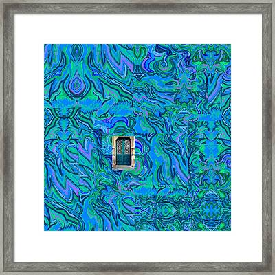Framed Print featuring the digital art Doorway Into Multi-layers Of Water Art Collage by Julia Woodman
