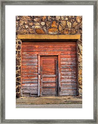 Doorway Of The Past Framed Print