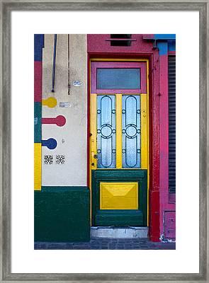 Doors Of San Telmo, Argentina Framed Print