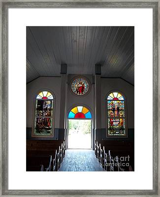 Doorway To Heaven Framed Print by Lise PICHE