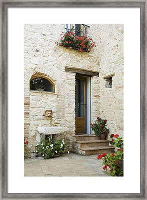 Doorway To Home Framed Print by Andersen Ross