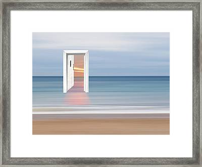 Doorway To The Future Framed Print by Gill Billington