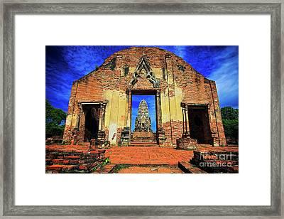 Doorway To Wat Ratburana In Ayutthaya, Thailand Framed Print by Sam Antonio Photography