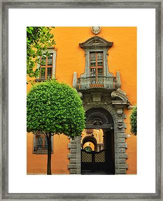 Doorways Of Learning Framed Print by Connie Handscomb