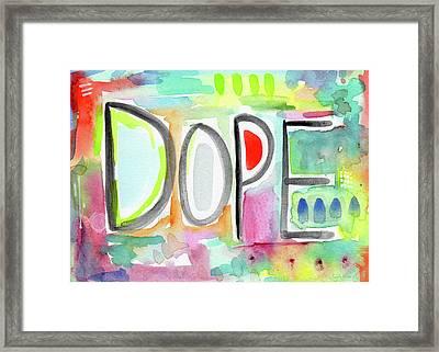Dope- Art By Linda Woods Framed Print