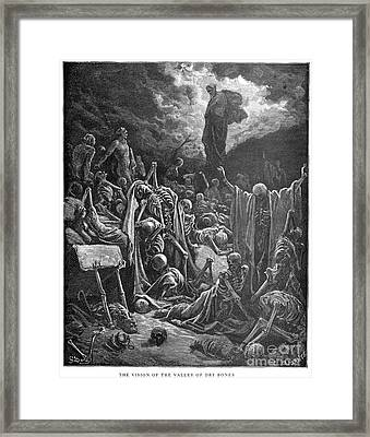 Dor�: Valley Of Dry Bones Framed Print by Granger