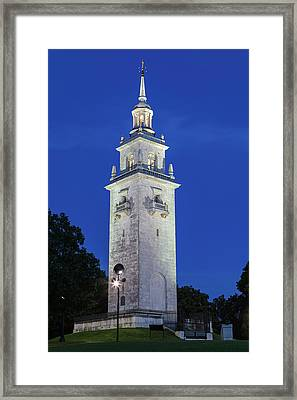 Framed Print featuring the photograph Dorchester Heights Monument by Juergen Roth