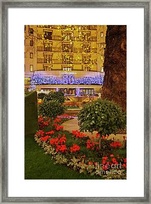 Dorchester Hotel London At Christmas Framed Print