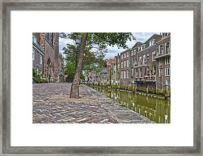 Dordrecht Behind The Church Framed Print by Frans Blok