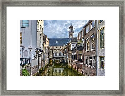 Dordrecht Town Hall Framed Print by Frans Blok