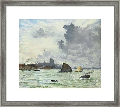 Dordrecht Warf Framed Print by Celestial Images
