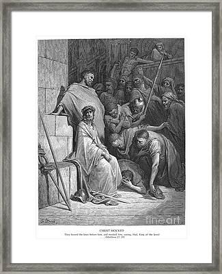 Dore: Christ Mocked Framed Print
