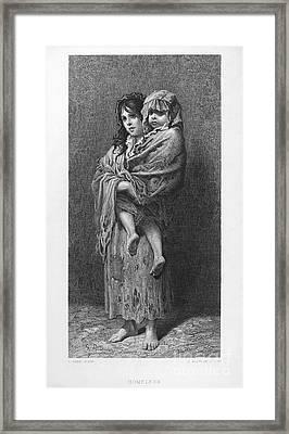 Dore: Homeless, C1869 Framed Print by Granger