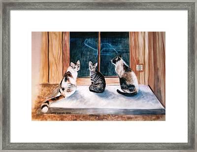 Doreen's Cats Framed Print
