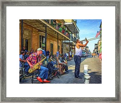 Doreen's Jazz New Orleans - Paint Framed Print