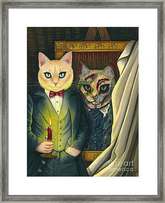 Framed Print featuring the painting Dorian Gray by Carrie Hawks