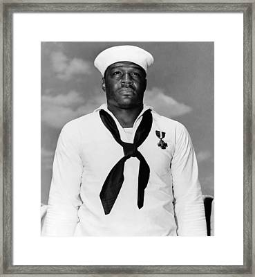 Dorie Miller Framed Print by War Is Hell Store