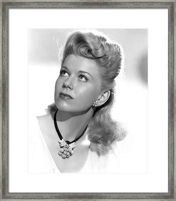 Doris Day, Ca. Mid-1940s Framed Print