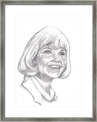 Doris Day  Framed Print by Carol Wisniewski