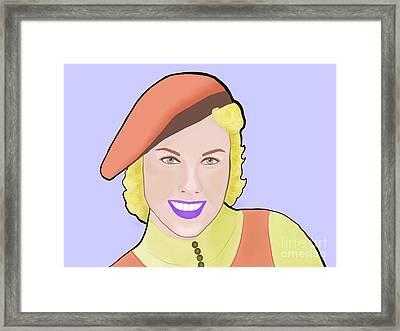 Doris Day Framed Print by Naz Cigdem