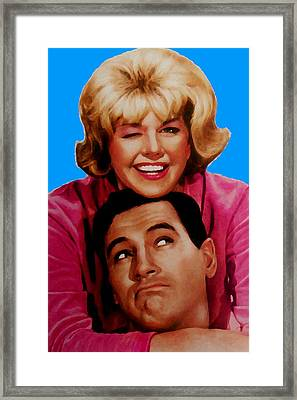 Doris Day Rock Hudson  Framed Print by Paul Van Scott