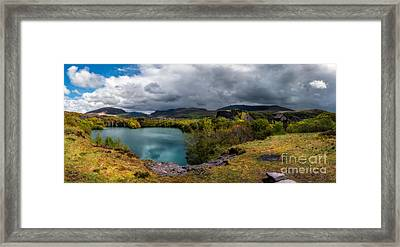 Dorothea Quarry Panorama Framed Print by Adrian Evans