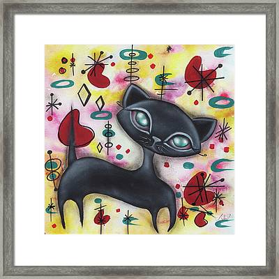 Dorothy Cat Framed Print by Abril Andrade Griffith