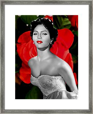 Dorothy Dandridge Framed Print by Davonte Bailey
