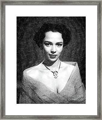 Dorothy Dandridge, Actress, Dancer, Singer By Js Framed Print