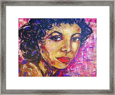 Dorothy Dandridge Portrait Framed Print