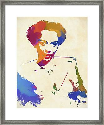 Dorothy Dandridge Watercolor Framed Print