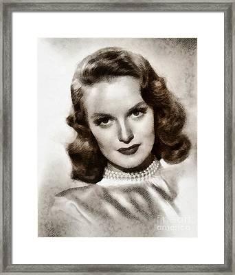 Dorothy Hart, Vintage Actress By John Springfield Framed Print by John Springfield
