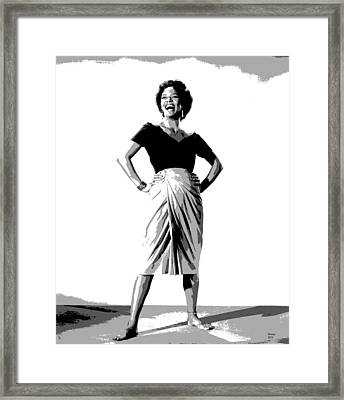 Dorothy Jean Dandridge Framed Print by Charles Shoup
